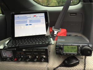"""This is my """"Lite"""" portable station, when only working SSB. Full portable station has laptop and rig interfaces for working digital"""